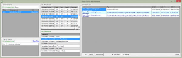 Financial Statements with Dimensions